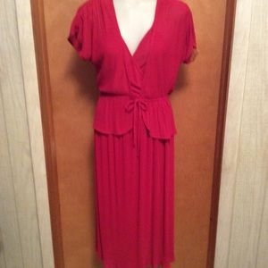 Pleated Dress with Jacket. Vintage late 70's